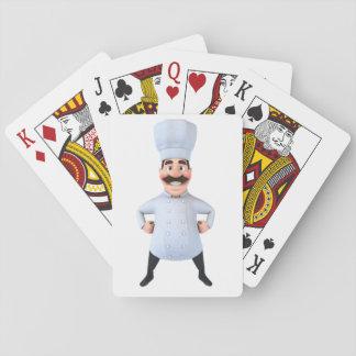 Cartes de jeu de chef jeux de cartes