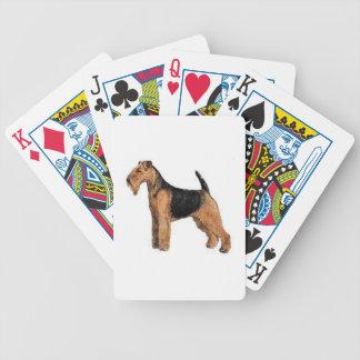 Cartes de jeu de chien de gallois Terrier Jeux De Cartes Poker