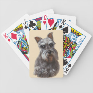 Cartes de jeu de chien de Schnauzer Cartes À Jouer