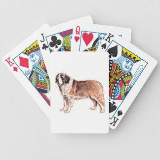 Cartes de jeu de chien de St Bernard Jeu De 52 Cartes