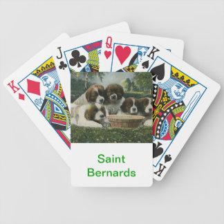 Cartes de jeu de chien de St Bernard Jeux De Cartes