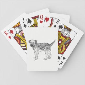 Cartes de jeu de chien - frontière Terrier Jeux De Cartes