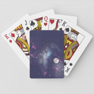 Cartes de jeu de ciel nocturne jeu de cartes