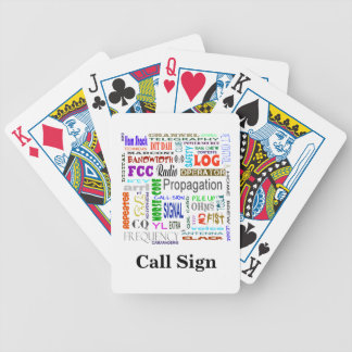 Cartes de jeu de collage de mot de radio-amateur jeu de poker