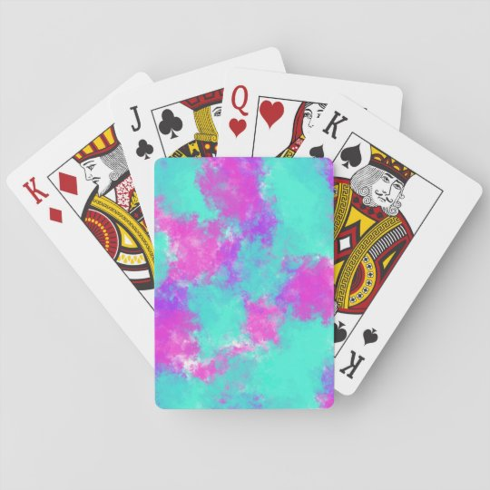 Cartes de jeu de colorant de cravate cartes à jouer