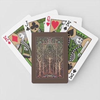 Cartes de jeu de conception d'arbres de Knotwork Jeu De Cartes