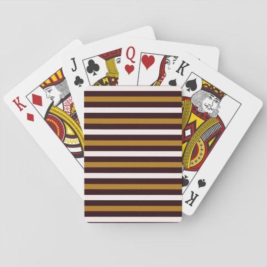 Cartes de jeu de conception de rayures cartes à jouer