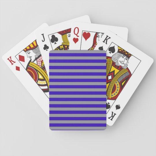 Cartes de jeu de conception de rayures jeu de cartes