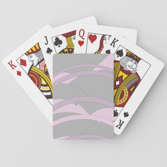 Cartes de jeu de conception de rayures jeux de cartes