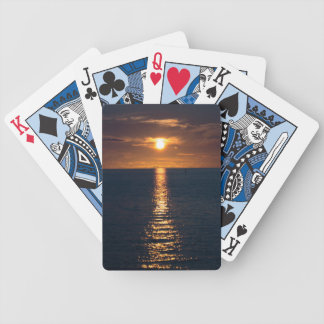 Cartes de jeu de coucher du soleil jeu de poker