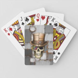 Cartes de jeu de crâne de Steampunk Jeu De Cartes