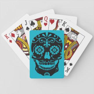 Cartes de jeu de crâne de sucre jeux de cartes