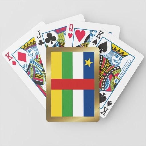 Cartes de jeu de drapeau de Centrafrique Jeux De Cartes Poker