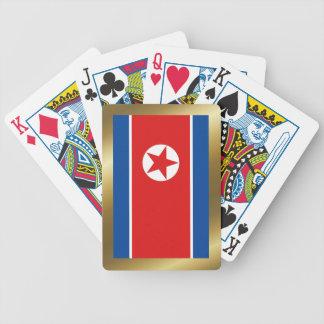 Cartes de jeu de drapeau de la Corée du Nord Jeux De Cartes