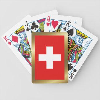 Cartes de jeu de drapeau de la Suisse Jeu De Poker