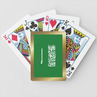 Cartes de jeu de drapeau de l'Arabie Saoudite Jeu De Poker