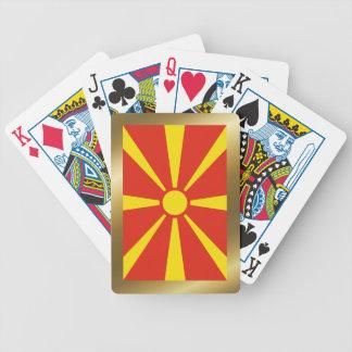 Cartes de jeu de drapeau de Macédoine Jeux De Cartes