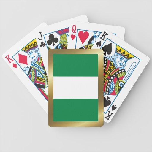 Cartes de jeu de drapeau du Nigéria Cartes De Poker