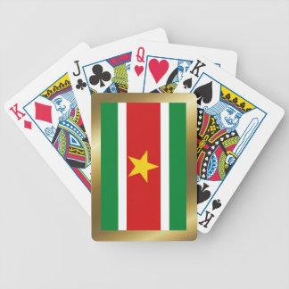 Cartes de jeu de drapeau du Surinam Jeu De Cartes