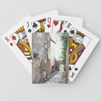 """Cartes de jeu de """"en Grignan"""", visages standard Jeu De Cartes"""