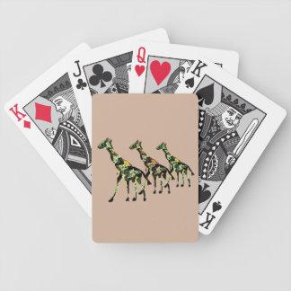 Cartes de jeu de famille de girafe jeu de 52 cartes