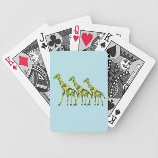 Cartes de jeu de famille de girafe jeux de cartes