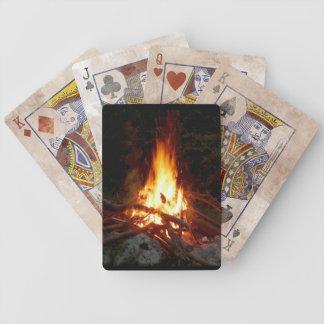 Cartes de jeu de feu de camp jeu de poker