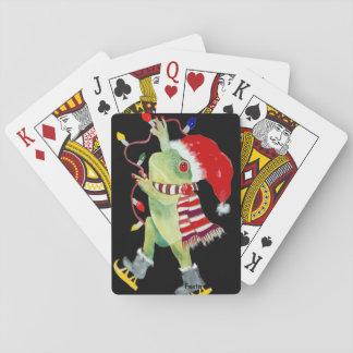 Cartes de jeu de grenouille de Noël Cartes À Jouer
