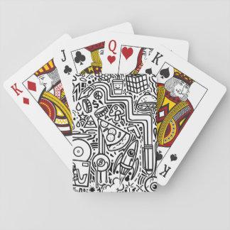 Cartes de jeu de griffonnages cartes à jouer