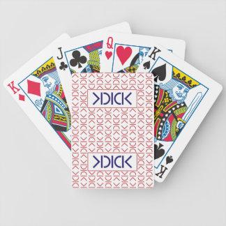 Cartes de jeu de KDICK. Logo arrière/bleu de Jeux De Cartes