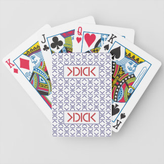 Cartes de jeu de KDICK. Logo arrière/rouge de Jeu De Cartes