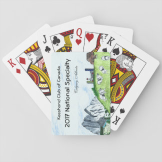 Cartes de jeu de Keeshond Cartes À Jouer