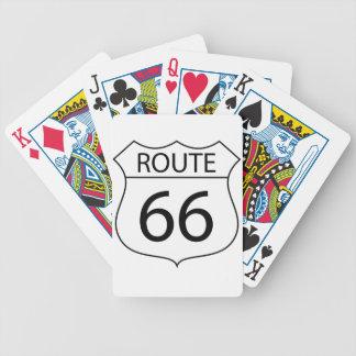 Cartes de jeu de l'itinéraire 66 jeux de cartes