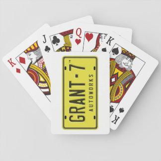 Cartes de jeu de logo de G7 Jeu De Cartes