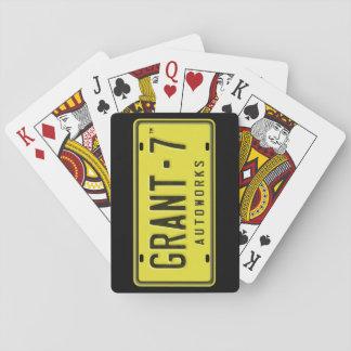 Cartes de jeu de logo de G7 - noir Jeux De Cartes