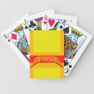 Cartes de jeu de logo de parodie de roche d'Ubuntu Cartes À Jouer