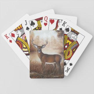 Cartes de jeu de mâle d'automne jeux de cartes