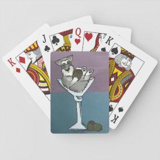 Cartes de jeu de Martini de Schnauzer Jeux De Cartes