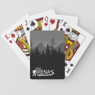 Cartes de jeu de matins de montagne jeu de cartes