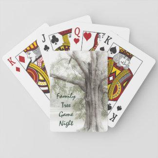 Cartes de jeu de nuit de jeu d'arbre généalogique cartes à jouer