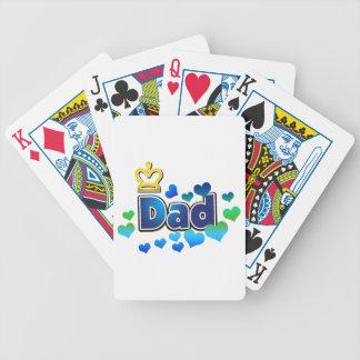 Cartes de jeu de papa - conception de couronne jeu de cartes