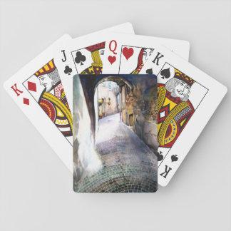 Cartes de jeu de pavé rond jeu de cartes