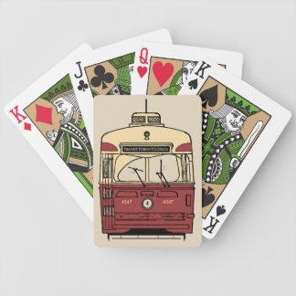 Cartes de jeu de PCC de Toronto de transit Jeu De Cartes