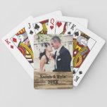 Cartes de jeu de photo de mariage jeux de cartes