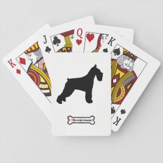 Cartes de jeu de plate-forme de Schnauzer standard Cartes À Jouer
