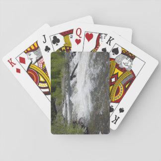 Cartes de jeu de rivière et d'arbres jeux de cartes