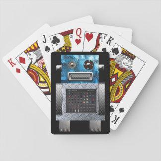 Cartes de jeu de robot cartes à jouer