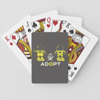 Cartes de jeu de robot jeu de cartes