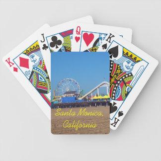 Cartes de jeu de roue de ferris de pilier de plage cartes à jouer