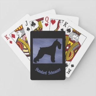 Cartes de jeu de Schnauzer standard Jeu De Cartes